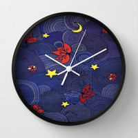 Lotus Sky Wall Clock by DuckyB (Brandi)