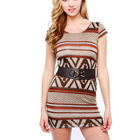 Papaya Clothing Online :: GEO PRINT KNIT DRESS