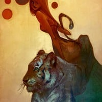 """Tigress"" - Art Print by Lois Van Baarle"