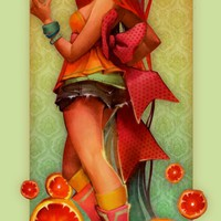 """Ginger Citrus"" - Art Print by Lois Van Baarle"