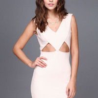 BLUSH GEOMETRIC BODYCON DRESS