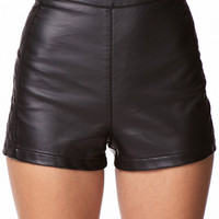 Quilted Panel Hot Pants