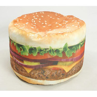 Wow Works LLC Hamburger Adult Bean Bag Chair