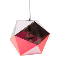 Pink/Smoke Icosahedron Pendant | The Best Lighting Ideas from Around the Web | Everywhere