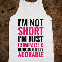 I'M NOT SHORT IM JUST COMPACT AND RIDICULOUSLY ADORABLE TANK TOP PINK BLACK (IDB021241)