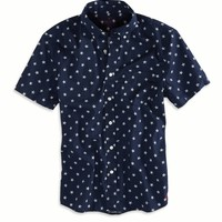 AE STARS SHORT SLEEVE BUTTON DOWN SHIRT