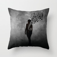 The Butterfly Transformation Throw Pillow by Nicklas Gustafsson
