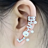 LOVE Statement Ear Cuff (Single, 1 Piercing)