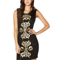 Papaya Clothing Online :: GOLD SPANGLE BODYCON DRESS