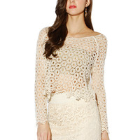 Papaya Clothing Online :: LACY SLEEVE TOP
