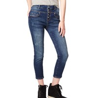 High-Waisted Medium Wash Crop Jegging