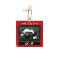 Mud Pie Best Dog Ever Chalkboard Ornament Frame
