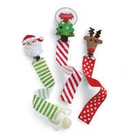 Mud Pie Christmas Pacifier Clips