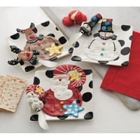 Mud Pie Santa & Santa Co. Holiday Cheese Platter Sets