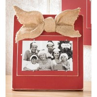 Mud Pie Small Distressed Wood Burgundy Frame