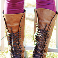 RESTOCK: Fight For Your Right Combat Boots: Brown