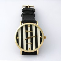 Black stripe watch