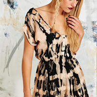 Ecote Eden Playsuit in Tie-Dye - Urban Outfitters