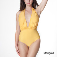 American Apparel Nylon Tricot Halter One-Piece