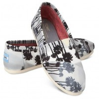 Grey Palm Trees Women's Classics