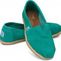 Green Sheen Perforated Suede Women's Classics