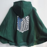 Attack on Titan Scouting Legion Cosplay The bat sleeve cloak type coat hoodie
