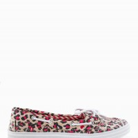 SEQUIN LEOPARD BOAT SHOES