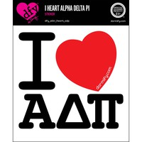 I Heart Alpha Delta Pi Sticker