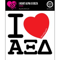 I Heart Alpha Xi Delta Sticker