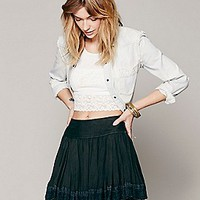 Finished in Lace Mini Skirt