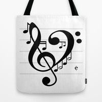 Love Music II Tote Bag by RichCaspian