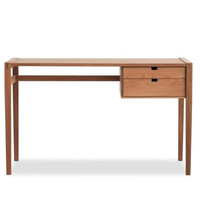 Two Drawer White Oak Desk