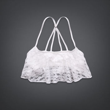 Lace Ruffle Crop Top