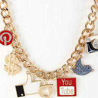 Social Media Club Necklace