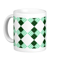 """Green Flower Blocks"" mug from Zazzle.com"