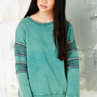 Staring at Stars Crochet Pop Trim Sweatshirt - Urban Outfitters