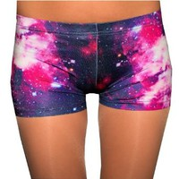 Red Galaxy Spandex Shorts