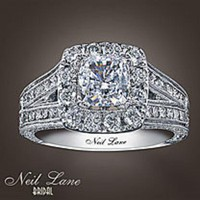 Neil Lane 14k White gold 2 Carat t.w.Diamond Vintage Style Ring