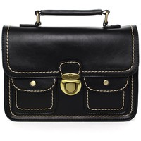 Black Old School Satchel Bag