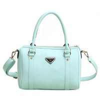 Solid Color Purse Tote Handbag Satchel Cross Body Bag