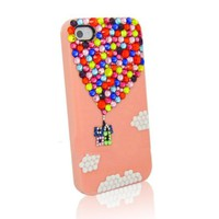 Up Colorful Rhinestone Handmade Case For iPhone Pink