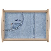Jeans Tray with Monogram