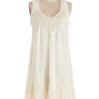 ModCloth Boho Mid-length Sleeveless Tent Breakfast and Bliss Dress