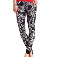 Cotton Damask Printed Leggings