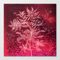 flowery firework Stretched Canvas by Marianna Tankelevich