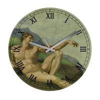 Michelangelo Genesis Adam Frameless Wall Clock> Clocks> Beautiful Homes