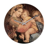 Madonna of the Chair by Raphael Frameless Wall Clo> Clocks> Beautiful Homes