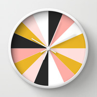 Pinwheel Wall Clock by Brains Are Pretty - Caroline Okun