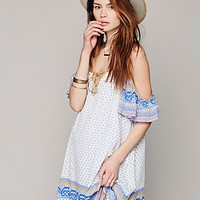Free People Printed Cold Shoulder