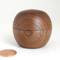 Tiny Walnut Sphere Box